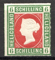 1867-73 Heligoland Germany 6 Sh (Red)