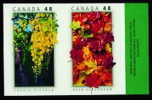 Canada, 2003, Trees of Canada and Thailand, 48c, imperforated se-tenant pair