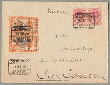 1920, 40 Cs. (2) + 10 + 10 Cs. on 20 Cs., with PROTECTORADO ESPANOL EN MARRUECOS