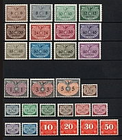 1940 General Government Official Stamps, Germany (Full Sets, CV $40)