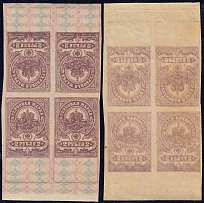 1918 RSFSR. Revenue stamps. Solovyov F9. Postage stamp block without