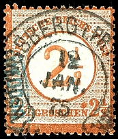 2 1/2 on 2 1/2 Gr. Brown, having bright colors extremely fine copy with large