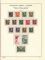 1940-41 Luxembourg Reich Occupation (3 Scans, CV $70, Full Sets, MNH)