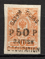 1920 Batum British Occupation Civil War 50 Rub on 1 Kop (CV $1300)