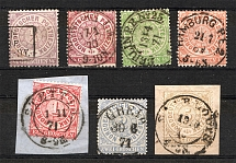 1869 North German Confederation Germany (CV $70, Full Set, Cancelled)