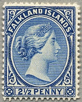 1891, 2 1/2 d., Prussian blue, wmk Crown CA, perf. 14, MH, very fresh, well cent