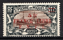 1941-42 5F St. Pierre & Miquelon, French Colonies (CV $25, MNH)