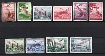 1941 Occupation of Serbia, Germany Airmail (Mi. 16-25, Full Set, CV $260, MNH)