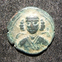Ancient Eastern Parthian Kingdom Phraates III/Darius of Media AE19 Tetrachalkon