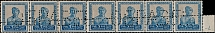 1924-25, definitive issue, worker 5r dark blue and gray brown, perforation 13