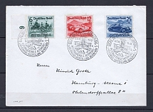 1939 Third Reich cover Hambugr with full set stamps and special postmark Automobile exhibition