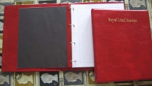 Accessories 2x Royal Mail 4-ring albums with 25 quadrille leaves, vgc
