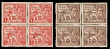 Great Britain, 1924, British Empire Exhibition, 1p scarlet and 1½p brown