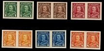 Canada, 1935, King George V Pictorial issue, 1c-8c, set of 6 imperf plate proofs