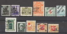 World Stamps Displaced Overprints Group (MH/Cancelled)