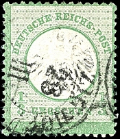 1 / 3 Gr. Dark yellowish green, from the lowest sheet row coming stamp en