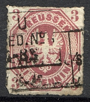 1865 Prussia Germany 3 Kr (CV $60, Full Set, Cancelled)