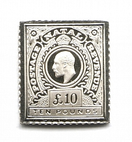 1902-03 Natal 10 Pound (Sterling Silver Miniature, Greatest Stamps of The World)