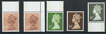 GB - QE Decimal 1988 Machin Litho 34p two band, ditto 18p and 22p and 13p LB and