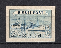 1938 2Kr Estonia (PROBE, Proof, Stamp by Sc. 138, Imperforated, MNH)