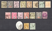 Ceylon, British Colonies (Group of Stamps, Canceled)
