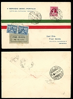 Vatican City First and Pioneer Flight Covers August 2-3, 1929, FFC to Genoa