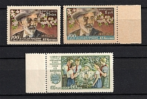 1956 100th Anniversary of the Birth of Michurin, Soviet Union USSR (Full Set, MNH)