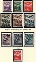 1939-44 Slovakia German Protectorat Air Post Collection (Full Sets)