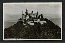1936 Hohenzoller Castle Photo postcard with Special postmark