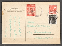 1948 Ukraine Postcard Card Regensburg Camp Post