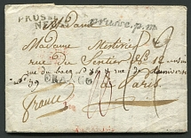 1810. Private letter from Moscow to France via Prussia. 1810. A private letter was sent on 5.06.1810 from Moscow (Dobin