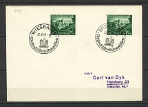 1940 Third Reich cover with special postmark Weisbaden