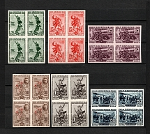 1940 The 20th Anniversary of Fall of Perekop, Soviet Union USSR (Imperforated, Blocks of Four, Full Set, MNH)
