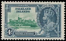 Falkland Islands, 1935, King George V Silver Jubilee issue, 4p, var