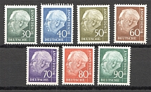 1956-60 Germany Federal Republic (CV $45, Full Set, MNH/Cancelled)