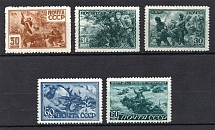 1943 Heroes of the USSR, Soviet Union USSR (Full Set, MNH/MLH)