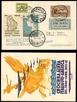 Vatican City First and Pioneer Flight Covers January 15-20, 1931,  Rome-Vlore