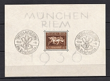1936 Third Reich, Germany (Souvenir Sheet Mi. 4x, Special Commemorative Cancellation DRESDEN, CV $25)