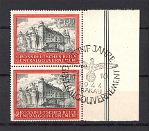 1944 General Government (Special Cancellation `Funf Jahre Krakay`, Full Set)