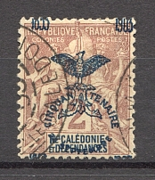 1903 New Caledonia French Colony (Shifted Overprint, Cancelled)
