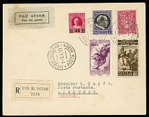Vatican City, First and Pioneer Flights May 1-2, 1940, Rome - Lisbon