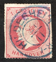 1864 Hanover Germany 1 Gr (Cancelled)