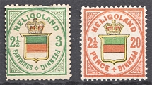 1876-90 Heligoland Germany (Full Set, CV $230)