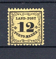 BADEN-LANDPOSTMARKEN, Michel no.: Lp3x MNH, Cat. value: 90€