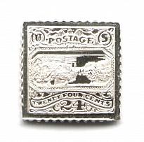 1869 USA 24 Cent (Sterling Silver Miniature, Greatest Stamps of The World)