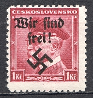 1938 Germany Occupation of Rumburg Sudetenland 1 Kc (MNH)