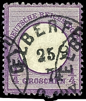 1 / 4 Gr. Violet (especially illuminating and deep shade), large shield,