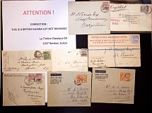 1886-1954 Selection of 49 covers and cards to a wide range of destinations, many