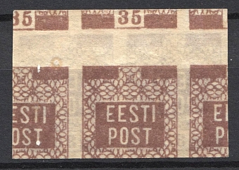 1919 35P Estonia (PROBE, Two Side Printing, Proof, Pair, MNH)