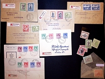 1912-38 Selection of 11 items including two registered covers to Switzerland wit